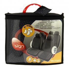 167855 RED SIGN vorne und hinten, schwarz, Polyester, Mengeneinheit: Satz Anzahl Teile: 12-tlg. Sitzschonbezug 167855 günstig kaufen