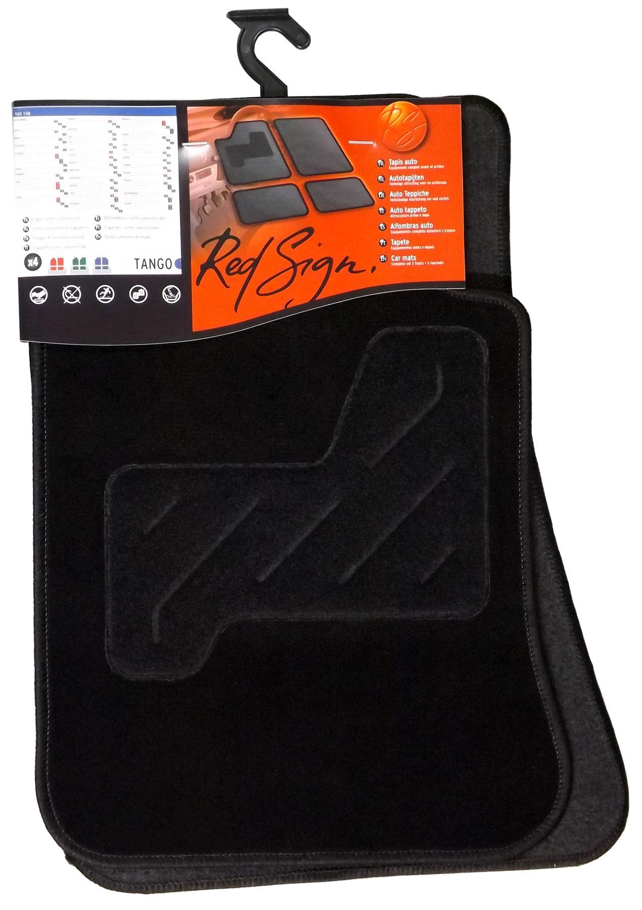 165158 RED SIGN Universelle passform Textil, vorne und hinten, Menge: 4, schwarz Autofußmatten 165158 günstig kaufen