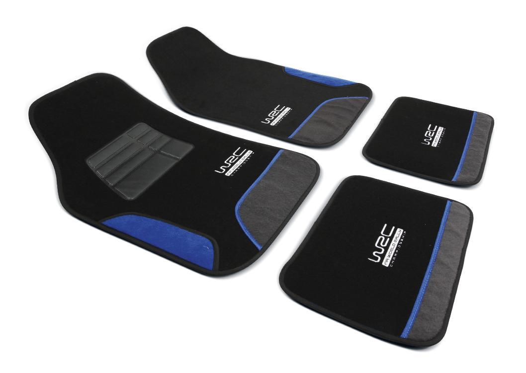 007436 WRC Universeel geschikt PU (Polypropyleen), voor en achter, Aantal: 4, Zwart, Blauw Grootte: 43*66, Grootte: 41*30 Vloermatset 007436