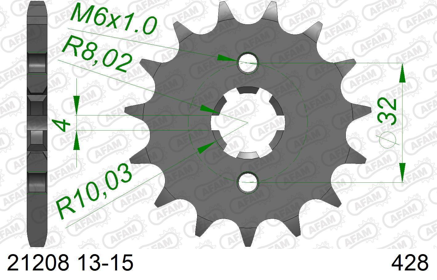 AFAM Koło łańcuchowe małe napędzające 21208-14 YAMAHA