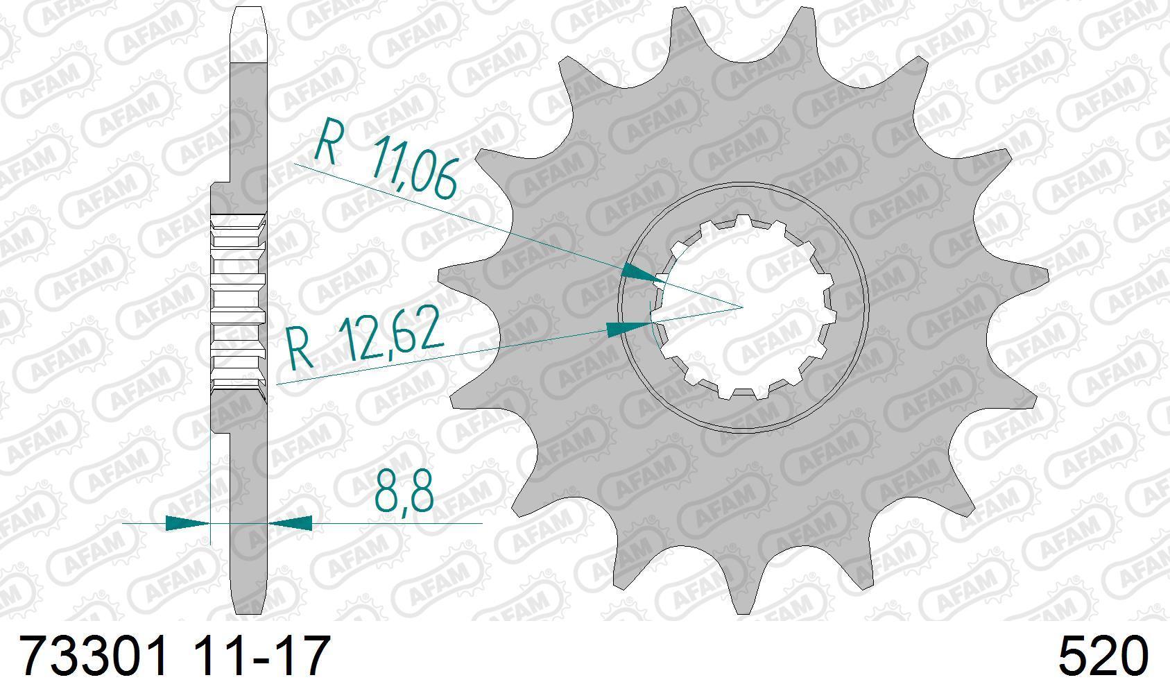 Motorrad Kettenritzel 73301-14 Niedrige Preise - Jetzt kaufen!
