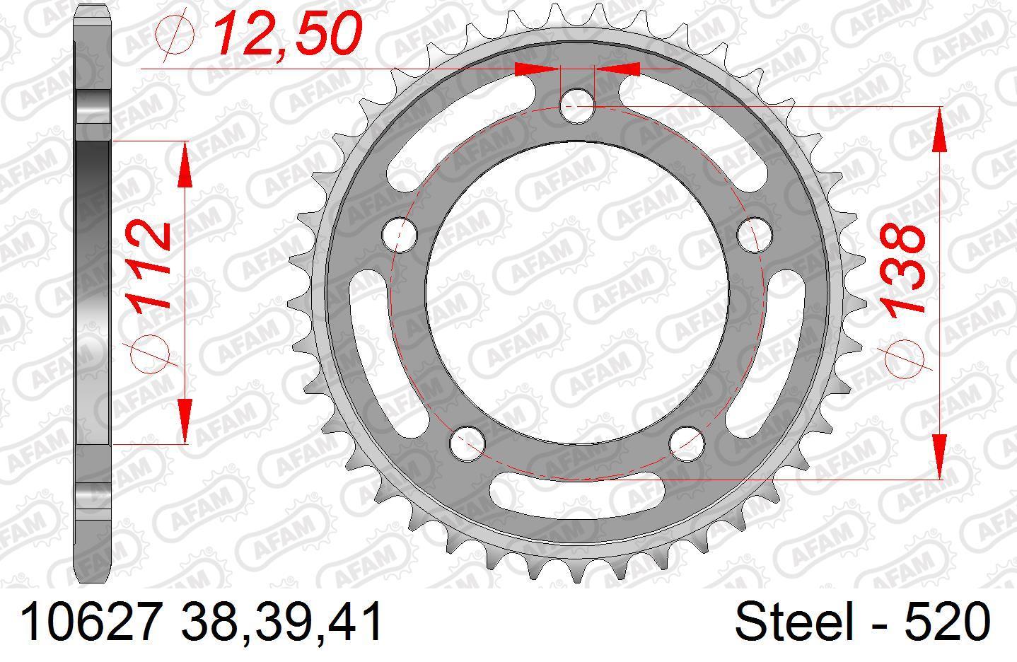 Motorrad Kettenrad 10627-41 Niedrige Preise - Jetzt kaufen!
