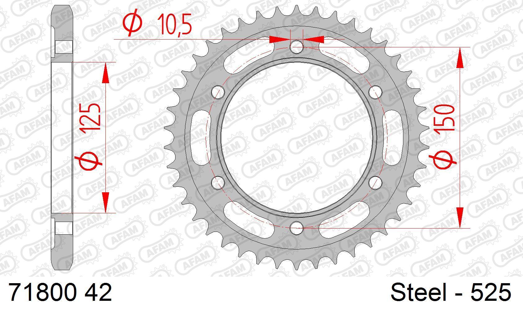 Motorrad Kettenrad 71800-42 Niedrige Preise - Jetzt kaufen!