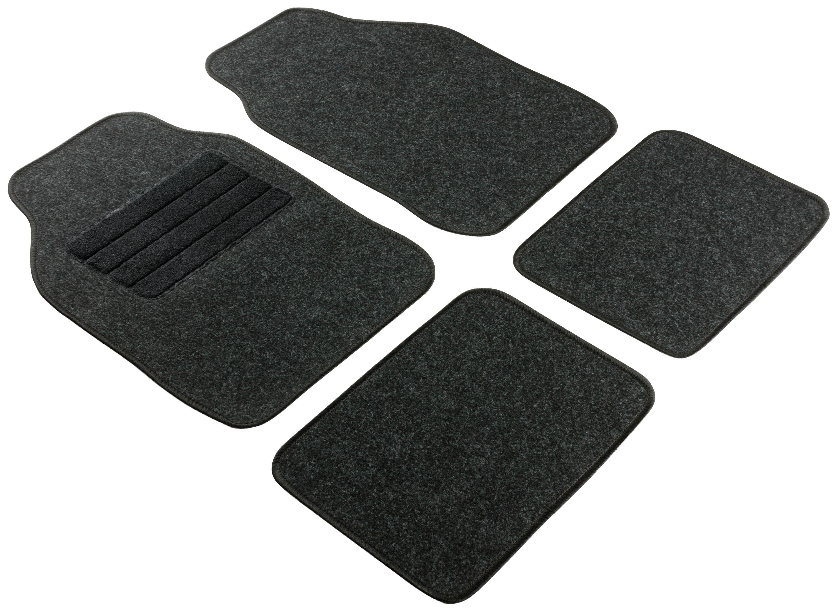 Achat de 14459 WALSER Adaptation universelle, Regio Textile, avant et arrière, Quantité: 4, noir Taille: 33x44, 68x44 Ensemble de tapis de sol 14459 pas chères