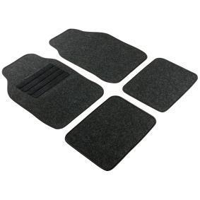 14459 WALSER Universeel geschikt Textiel, Voor en achter, Aantal: 4, Zwart Grootte: 68x44, Grootte: 33x44 Vloermatset 14459