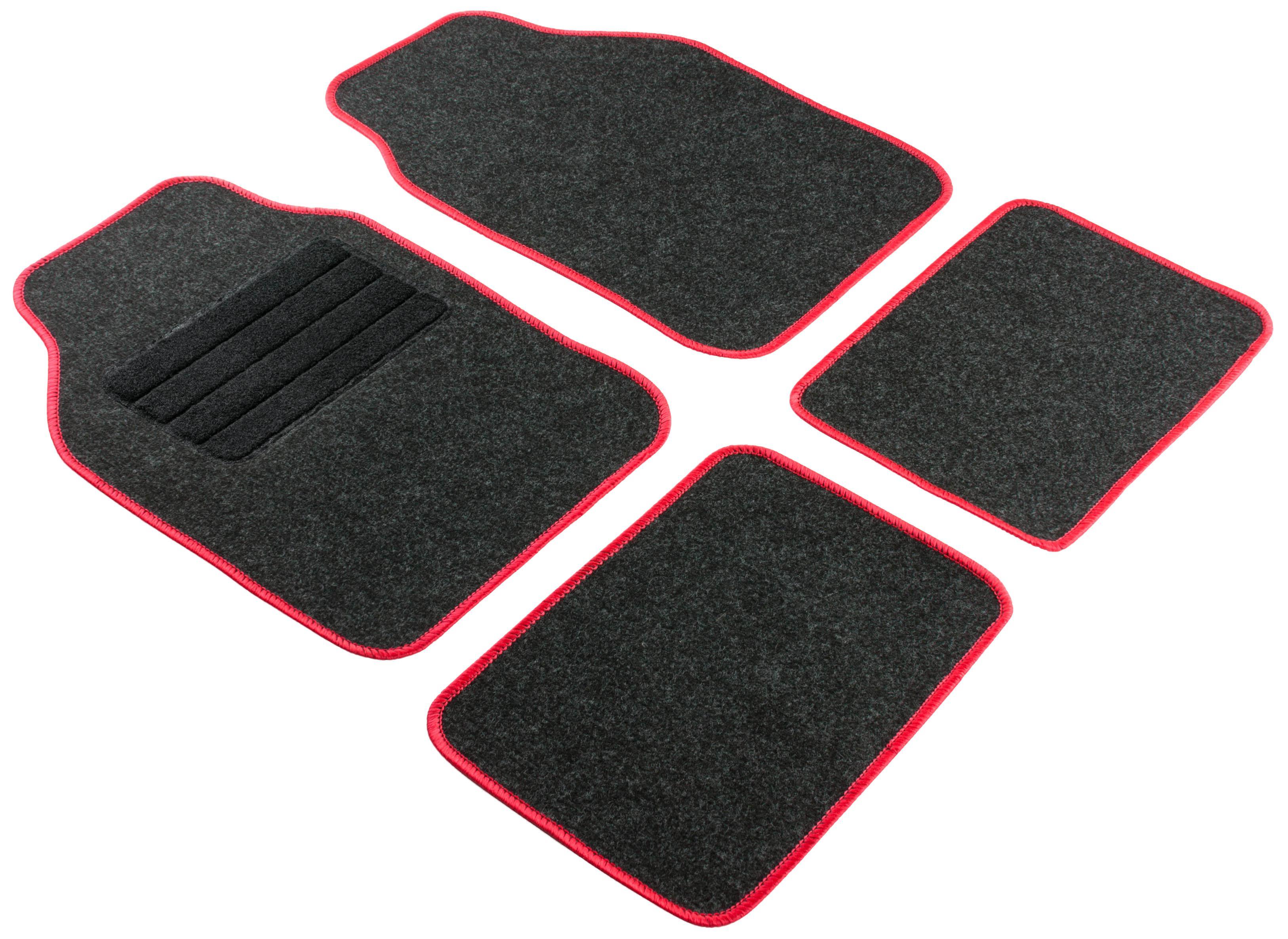 14460 WALSER Uniwersalny, Regio red Tekstylia, z przodu i z tyłu, Ilość: 4, czarny Rozmiar: 33x44, 68x44 Zestaw dywaników podłogowych 14460 kupić niedrogo