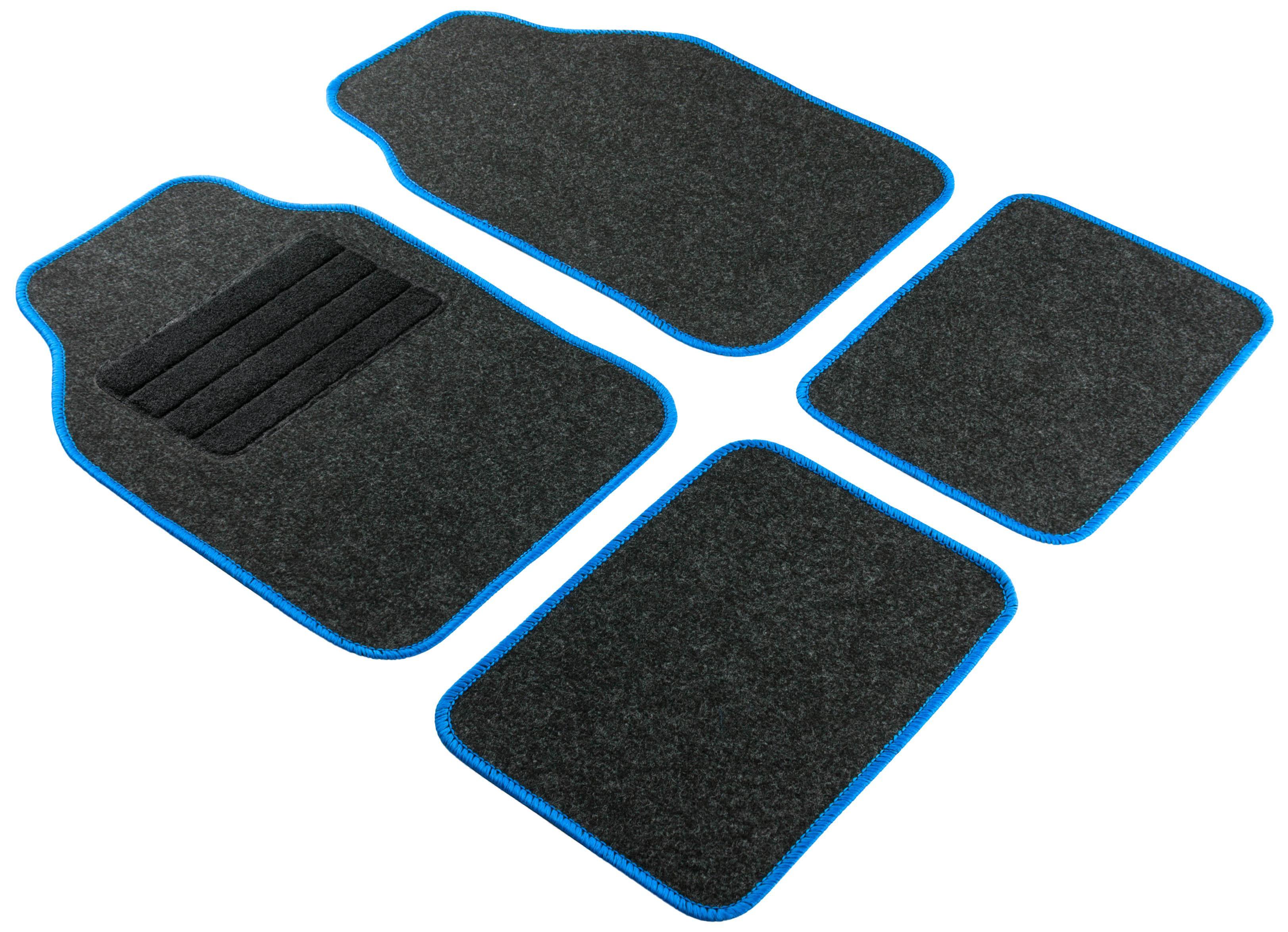 14461 WALSER Universeel geschikt, Regio blue Textiel, voor en achter, Aantal: 4, Antraciet Grootte: 33x44, 68x44 Vloermatset 14461