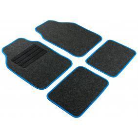 14461 WALSER Regio blue, Universeel geschikt Textiel, voor en achter, Aantal: 4, Blauw Grootte: 68x44, Grootte: 33x44 Vloermatset 14461