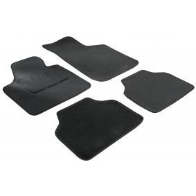 14601 WALSER Voor en achter, Zwart, Textiel, Aantal: 4 Vloermatset 14601