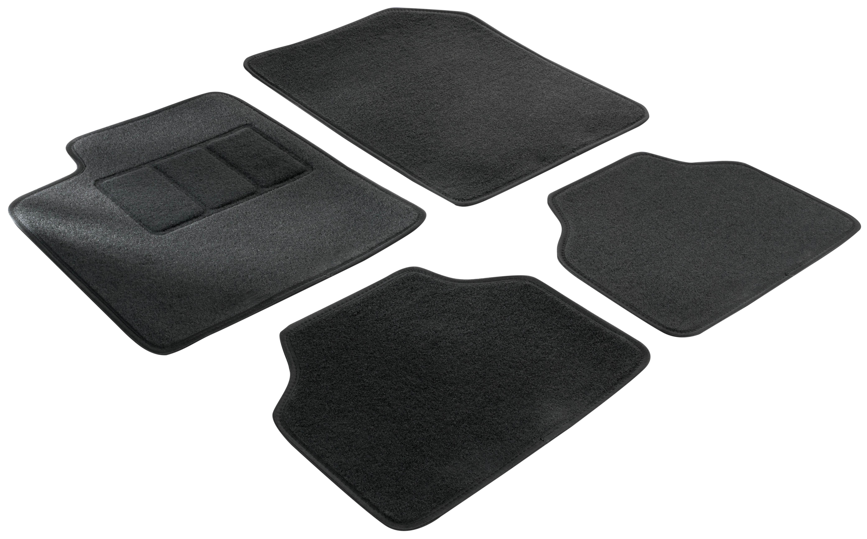 14611 WALSER Maßgefertigt Textil, vorne und hinten, Menge: 4, schwarz Autofußmatten 14611 günstig kaufen
