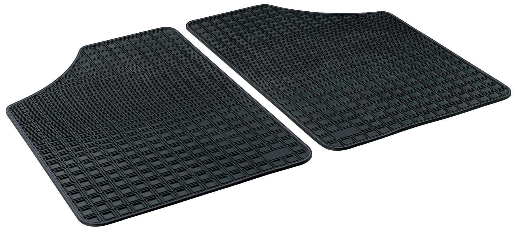 14901 WALSER Op maat gemaakt, Blueline Premium Rubber, Achter, Aantal: 2, Zwart Vloermatset 14901