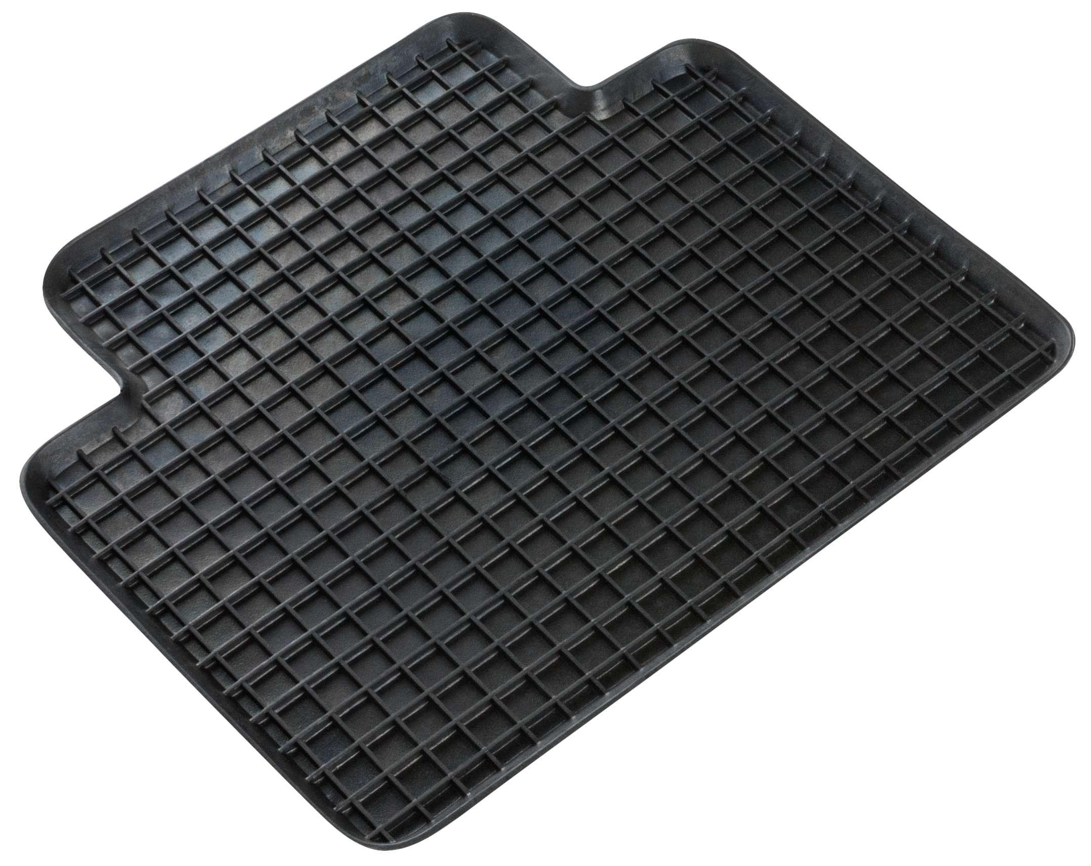 14942 WALSER Universeel geschikt, Honeycomb Rubber, Achter, Aantal: 1, Zwart Grootte: 41 x 37 Vloermatset 14942
