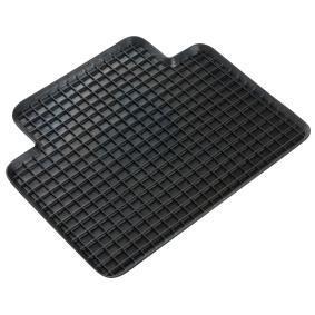 14942 WALSER Universeel geschikt Rubber, Achter, Aantal: 1, Zwart Grootte: 41 x 37 Vloermatset 14942