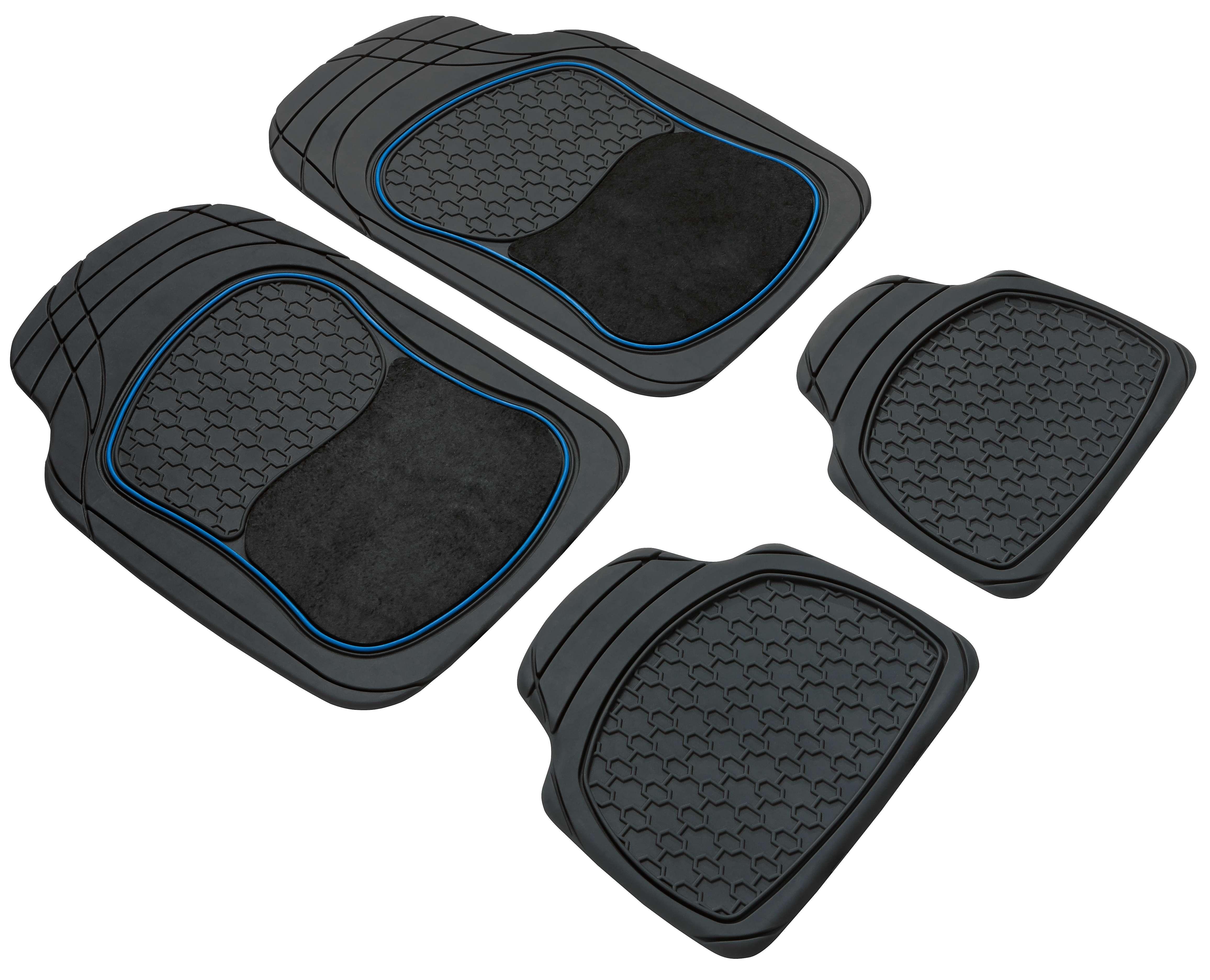 28014 WALSER Universeel geschikt, Royal Rubber, voor en achter, Aantal: 4, Blauw, Zwart Grootte: 40 x 46, 70 x 48.5 Vloermatset 28014