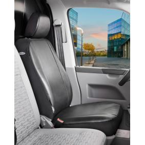 10501 WALSER Front, Anthracite, Leatherette, Polyester, Quantity Unit: Piece Number of Parts: 2-part Seat cover 10501 cheap
