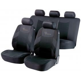 11776 WALSER Front and Rear, Black, Polyester, Quantity Unit: Kit Number of Parts: 7-part Seat cover 11776 cheap