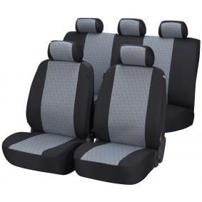 12436 WALSER Front and Rear, Black/Grey, Polyester, Quantity Unit: Kit Number of Parts: 5-part Seat cover 12436 cheap