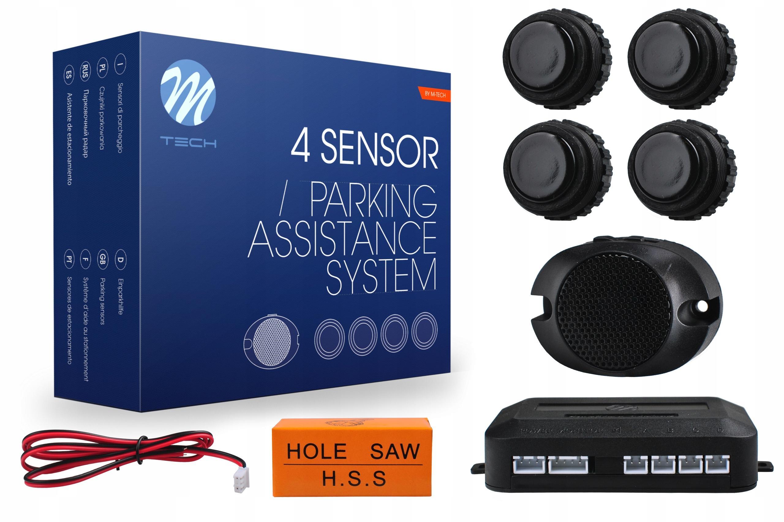 CP27B M-TECH hinten, mit Montageanleitung, mit Sensor, Anzahl der Sensoren: 4 Einparkhilfe CP27B günstig kaufen
