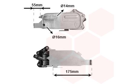 Automatikgetriebe Ölkühler VAN WEZEL 06013740