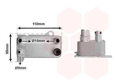 Getriebe Ölkühler VAN WEZEL 30013704