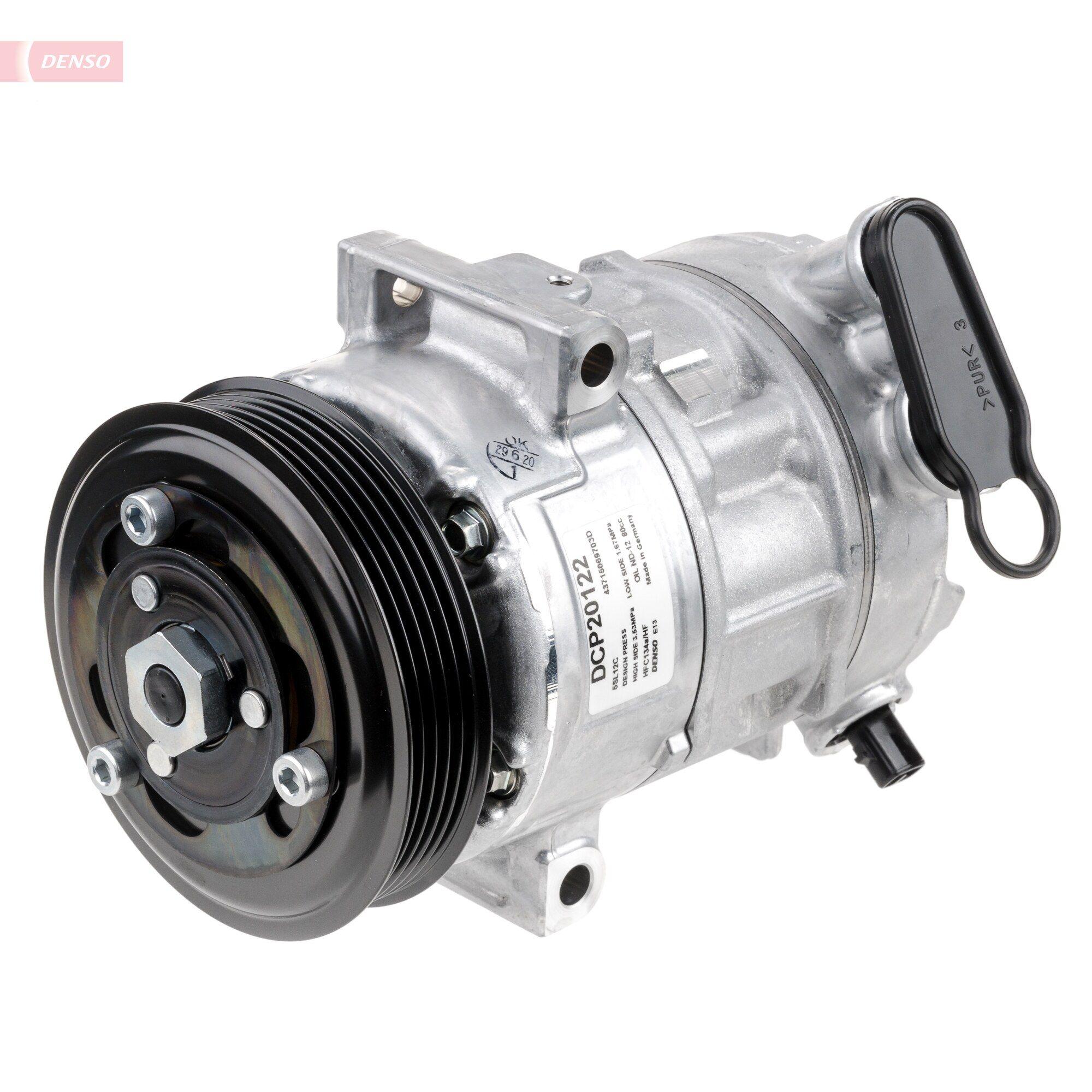Klimakompressor Opel Corsa D 2009 - DENSO DCP20122 (Riemenscheiben-Ø: 110mm, Anzahl der Rillen: 5)