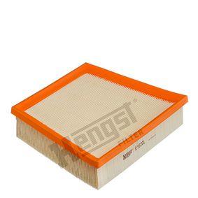 8432310000 HENGST FILTER Filtereinsatz Länge: 255,0mm, Breite: 192,0mm, Höhe: 49,5mm Luftfilter E1629L günstig kaufen
