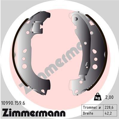 SEAT ARONA Bremsbackensatz - Original ZIMMERMANN 10990.159.6 Breite: 42mm