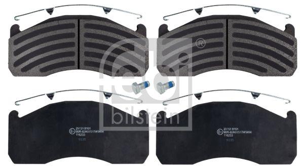Kit de plaquettes de frein, frein à disque FEBI BILSTEIN pour VOLVO, n° d'article 116233