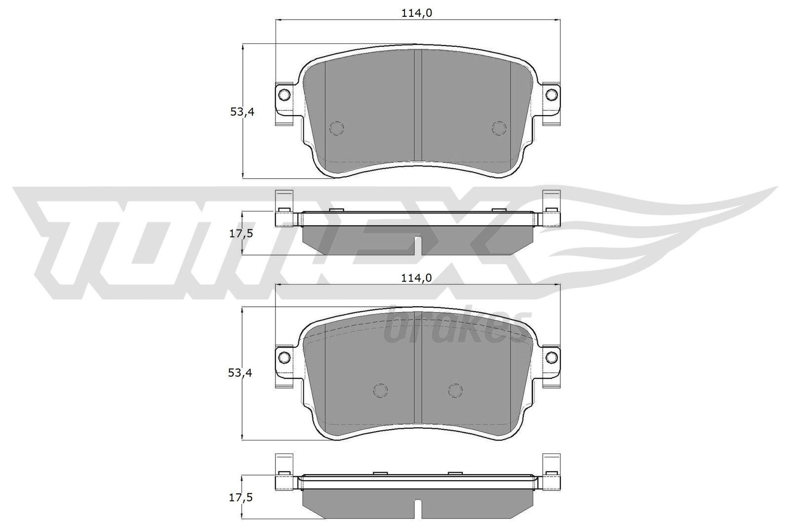 Bremsklötze TOMEX brakes TX 18-64