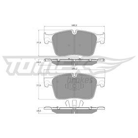 22302 TOMEX brakes Vorderachse, für Verschleißwarnanzeiger vorbereitet Höhe: 77,5mm, Dicke/Stärke: 18mm Bremsbelagsatz, Scheibenbremse TX 18-84 günstig kaufen