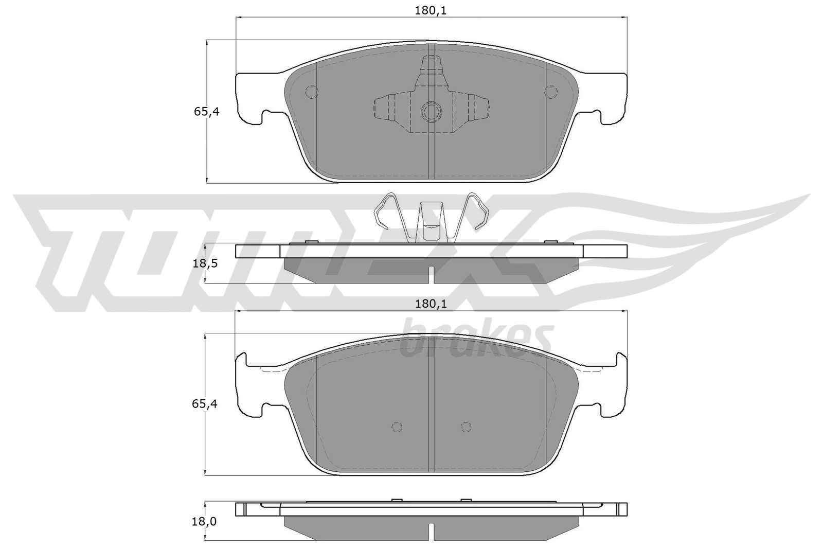 Original FORD Bremsbelagsatz TX 18-91