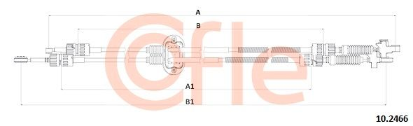 Vajer, manuell transmission 10.2466 COFLE — bara nya delar