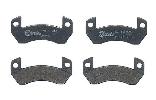 PIAGGIO APE 2014 Bremsbelagsatz - Original BREMBO P 62 002 Höhe: 43,3mm, Breite: 96,9mm, Dicke/Stärke: 8mm