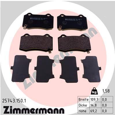 Bremssteine ZIMMERMANN 25743.150.1