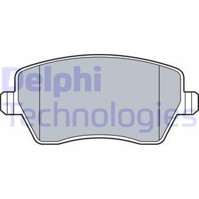 LP3551 DELPHI nicht für Verschleißwarnanzeiger vorbereitet Höhe: 52mm, Dicke/Stärke 1: 17mm Bremsbelagsatz, Scheibenbremse LP3551 günstig kaufen