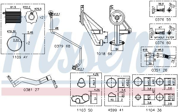 Turbolader Dichtungssatz NISSENS 9300910