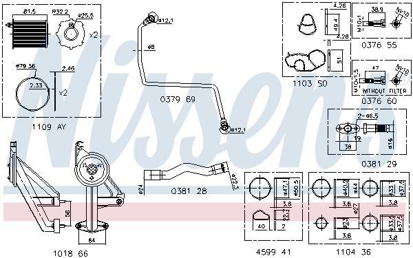 Montagesatz Turbolader NISSENS 9300911