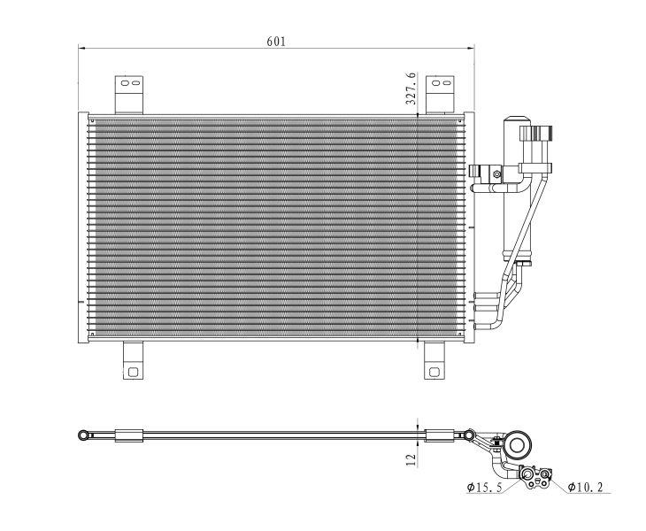 NRF Kondensator, Klimaanlage 350361