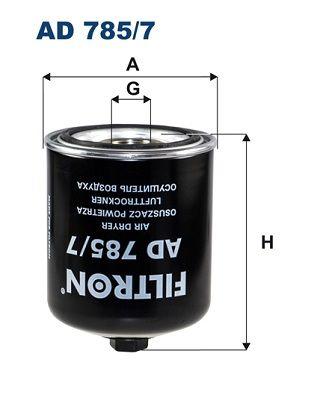 FILTRON Lufttrocknerpatrone, Druckluftanlage für SCANIA - Artikelnummer: AD 785/7