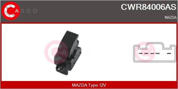 CASCO: Original Fensterheberschalter CWR84006AS (Anschlussanzahl: 5)