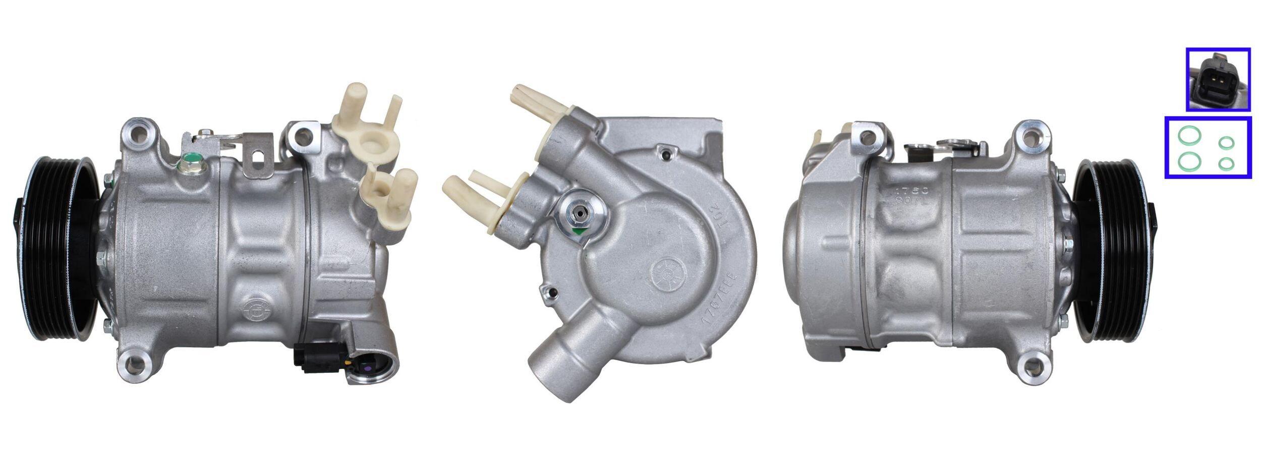 Kompressor OPEL Zafira Life (K0) 2020 - LUCAS ACP01274 (Riemenscheiben-Ø: 109mm, Anzahl der Rillen: 6)