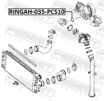 RINGAH-035-PCS10 Dichtring, Ladeluftschlauch FEBEST - Markenprodukte billig