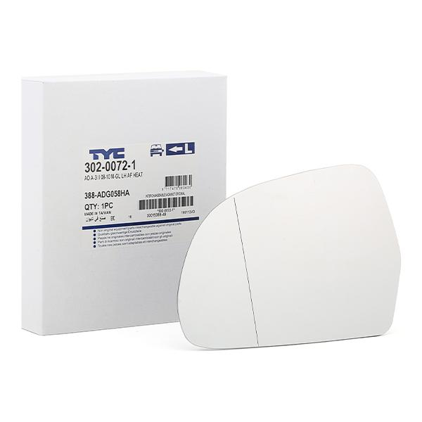 Spiegelglas, Außenspiegel TYC 302-0072-1 Bewertungen