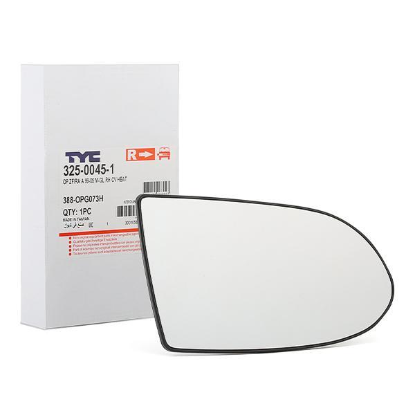 Original OPEL Spiegelglas Außenspiegel 325-0045-1