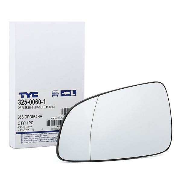 Vetro specchio retrovisore 325-0060-1 TYC — Solo ricambi nuovi