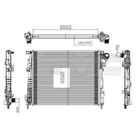 725-0032 TYC für Schaltgetriebe Netzmaße: 558x470x28 [mm] Kühler, Motorkühlung 725-0032 günstig kaufen