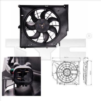803-0005 TYC für Fahrzeuge mit/ohne Klimaanlage, Ø: 415mm, mit Kühlerlüfterrahmen (Zarge), mit Steuergerät Kühlerlüfter 803-0005 günstig kaufen