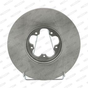 DDF1113C FERODO PREMIER belüftet, ohne Schrauben Ø: 276mm, Lochanzahl: 5, Bremsscheibendicke: 24,5mm Bremsscheibe DDF1113 günstig kaufen