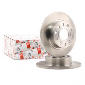 DDF1224 FERODO PREMIER Voll, mit Schrauben Ø: 255mm, Lochanzahl: 5, Bremsscheibendicke: 10mm Bremsscheibe DDF1224 günstig kaufen