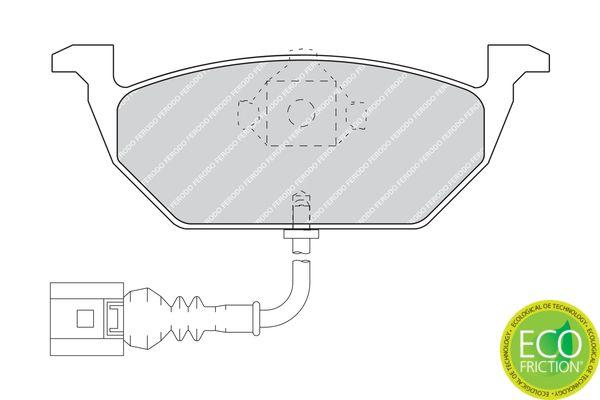 FDB1398 Bremssteine FERODO in Original Qualität